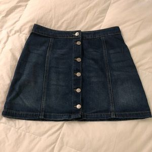 H&M Front Button-up Jean mini-skirt